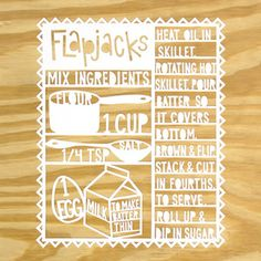 Image of Flapjacks Paper Cutting
