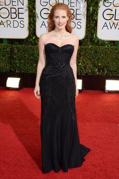 Jessica Chastain veste Givenchy no Globo de Ouro 2014 (12/01/14)