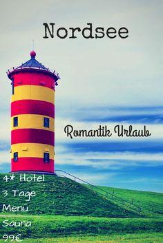 Ihr habt mal wieder Lust mit eurer Besseren Hälfte verknallt am Strand entlang zu spazieren und beim Candle-Light Dinner zu zweit die restliche Welt um euch herum zu vergessen? Dann ist dieses Angebot für einen Romantikurlaub an der Nordsee genau richtig... Alle Informationen gibt's hier > http://www.reiseuhu.de/?p=7578 #Nordsee #Romantik #Urlaub