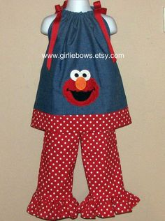 Elmo outfit- If we do end up doing an Elmo Birthday, I would have to get this made for her