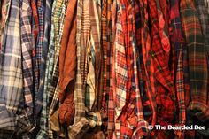 Vintage Mystery Flannel Shirt by TheBeardedBee on Etsy
