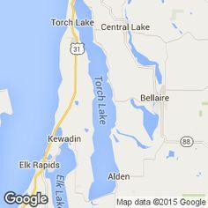 Torch Lake Michigan Map Bnhspine Com