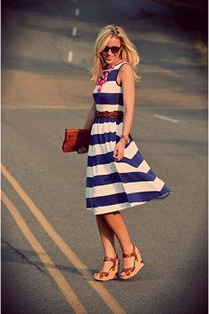 Blue and White Stripe dress