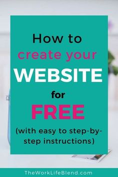 How to make a website with WordPress with easy step by step instructions. If you're not sure how to set up a business website or think it will cost a fortune have a read of this. You can start a website in under an hour and WordPress is free! #website #websitedesign #websitedevelopers Start A Website, Create Your Website, How To Start A Blog, Free Website, Website Ideas, Home Based Business, Business Tips, Online Business, Business Meme