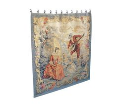 Antique French Aubosson Silk Tapestry 19th c by OceansideCastle