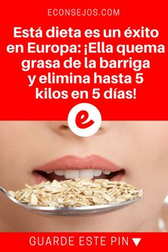 Está dieta es un éxito en Europa: ¡Ella quema grasa de la barriga y elimina hasta 5 kilos en 5 días! Lose 5 kilos in a week Diabetic Recipes, Diet Recipes, Healthy Recipes, Dieta 10 Kg, Fitness Diet, Health Fitness, Healthy Life, Healthy Eating, Cure Diabetes