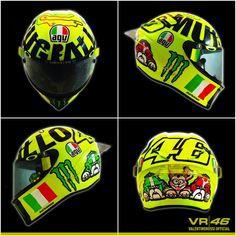 Vale 's 2016 Mugello helmet, it won't bring him any luck.