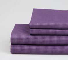 Large Lilac Linen Waffle Bath Towel. #bathlinen #naturallinen #natural #waffle