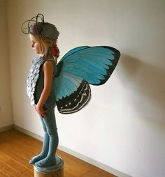 The Cardboard Collective: Blue Butterfly Costume by Amber - Halloween Animal Costumes, Cute Costumes, Family Costumes, Costume Ideas, Awesome Costumes, Children Costumes, Diy Kids Costumes, Diy Halloween, Halloween Halloween