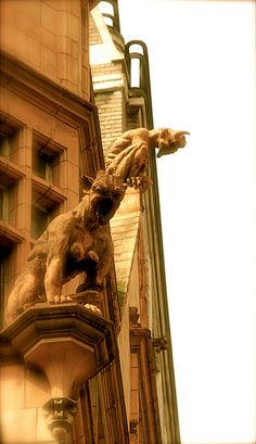 Gargoyles, Cornhill by Jeff Zie, via Flickr