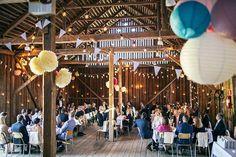 Wedding in a cool barn