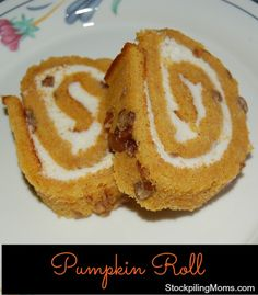 Pumpkin Roll is a great dessert to serve with GAME DAY appetizers!