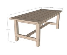 Ana White Build a Farmhouse Table - Updated Pocket Hole Plans Free and Easy DIY Project and Furniture Plans White Farmhouse Table, Build A Farmhouse Table, Farm Table Diy, Farmhouse Style, Ana White Farm Table, Rustic Farmhouse, Farm Table Plans, Farm Tables, Wood Tables