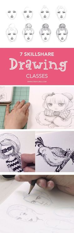 Thinking of upping your drawing game? These Skillshare classes on Drawing are perfect for people who love to draw or artists at any level. #drawing #skillshare #classes #online #free #tips #artists #artist #sketching