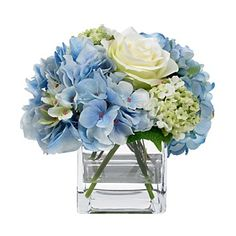 BLOOMS by Diane James Blue Hydrangea & Rose Bouquet | Bloomingdale's