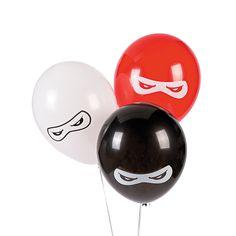 Ninja Warriors Latex Balloons - OrientalTrading.com. $13/25