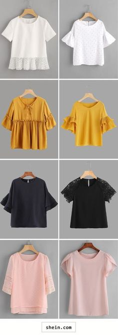 Solid color blouses
