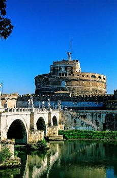 Ponte Sant' Angelo - bridge -  and Castel Sant' Angelo, Rome, Italy (96 pieces)