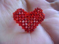 Aprenda Fazer-  Anel Coração com miçangas