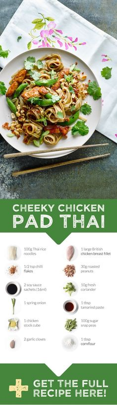 Our version of Pad Thai uses Thai noodles, juicy chicken and sugarsnap peas for sweetness and crunch. Not forgetting one of the key flavours - tamarind. Originally from Africa, tamarind has that sweet and sour flavour we most commonly associate with this