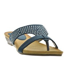 Another great find on #zulily! Blue Studded Double Strap Flip-Flop #zulilyfinds