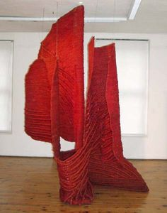 Jagoda Buic / Sculptural installation of Buic's textile work / Gliptoteka Zagreb, Croatia