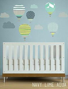 High In The Sky Hot Air Balloons Children Wall Decal The ... Https: