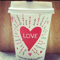 Starbucks Valentines Day Love Cup ❤