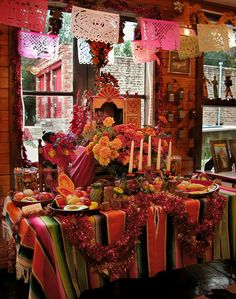 Traditional Mexican Dia de los Muertos altar. - I've always admired the home altars of Mexican families to remember and honor their deceased loved ones ...