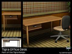 Tigra Office Desk - Sims 3 Buy Mode - Dragon Black Sims
