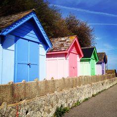 Beach huts, Folkestone Seafront