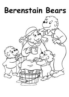 outstanding berenstain bears printable coloring pages became