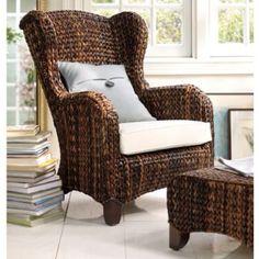 Banana Leaf chair and ottoman