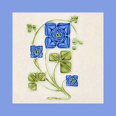 """158 Art Nouveau tile by Johnson Courtesy of Robert Smith from his book """"Art Nouveau Tiles with Style"""". Buy as an e-card with a personalised greeting! Art Nouveau Tiles, Art Nouveau Design, Azulejos Art Nouveau, Artistic Tile, Art Tiles, Robert Smith, Vintage Tile, Art And Craft Design, Blue Tiles"""