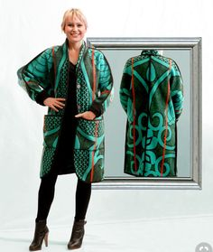 BASOTHO Blanket coat by WEISS Cape Town - made to order - shipping worldwide
