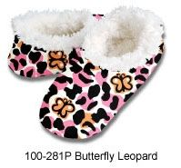 ae7c1e9742d Snoozies Women s Cozy Slippers Butterfly Leopard