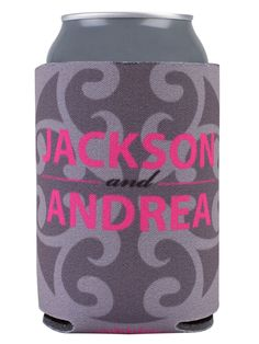 TWC-5057 - Full Color Collapsible Wedding Can Coolers #weddingkoozie