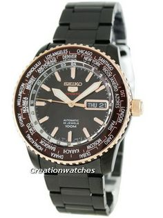 Seiko 5 Sports Automatic Hand Winding SRP132K1 SRP132 SRP132K Special Edition Mens Watch