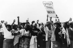 South African women protesting Apartheid