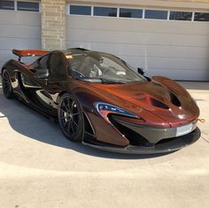 McLaren P1 made out of Amber exposed carbon fiber Photo taken by: @675lt_159 on Instagram
