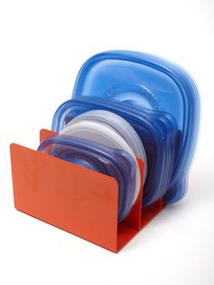 Don't lose your lids - use a letter sorter to store food storage lids. #kitchen #storage