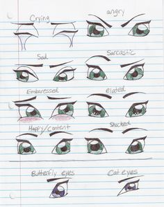 Eye expressions