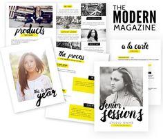 The Modern Magazine template by Jamie Schultz Designs