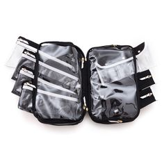 Your search for the perfect travel toiletry case is over. This option, from celeb-favorite brand PurseN, is exactly what you've been looking for. The removable pouches are easy to use and clean, the clear plastic compartments contain spills, and the built-in hook makes it easy to hang this travel case in your hotel room. Watch lifestyle expert Marcy McKenna show you exactly why this toiletries carrier is the solution to your packing problems.