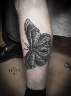 Tattoo by Ien Levin, The Bone House in Kiev, Ukraine #butterfly #ink