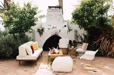 Bohemian Modern Outdoor Lounge l Wedding Lounge Seating