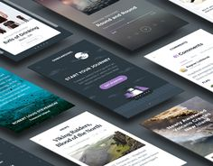 """Ghost Ship Mobile UI Kit by Hoarrd!"" http://be.net/gallery/35185221/Ghost-Ship-Mobile-UI-Kit-by-Hoarrd"