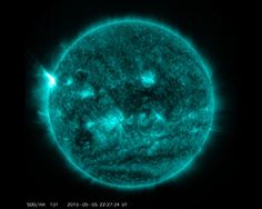 The X-class solar flare — the most powerful class of sun storm — erupted Tuesday from a sunspot called Active Region 2339, peaking at 6:11 p.m. EDT. NASA's Solar Dynamics Observatory spacecraft captured a gorgeous video of the flare.