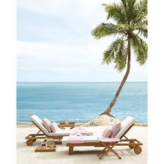 Outdoor Living Ideas for Every Style and Space   Domino ❤ liked on Polyvore featuring beach