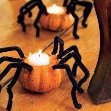 velas en forma de araña